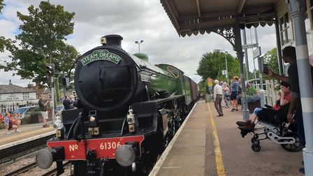 The train was spotted at Elmswell train station