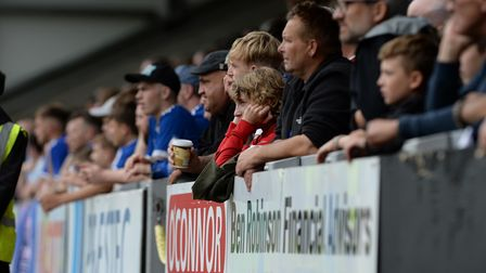 Being a fan can be difficult at times: Town fans at The Pirelli Stadium.