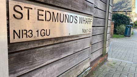 """Emergency services were called toSt Edmunds Wharfin Norwich, following reports a woman """"wanted to go into the water""""."""