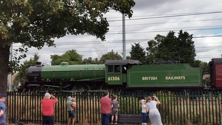 The train stopped for a few moments alongside Gippeswyk Park