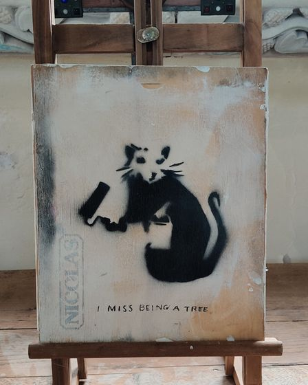 Another potential Banksy has appeared in the mid Suffolk village of Rickinghall, near Diss