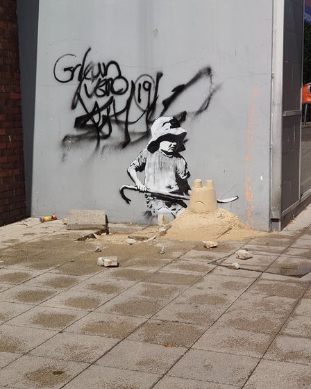 A suspected Banksy piece has appeared in Lowestoft at the crossing of London Road North and Regent R