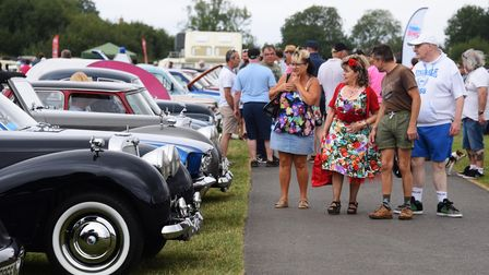 The classic car show at Stonham Barns. Picture: DENISE BRADLEY