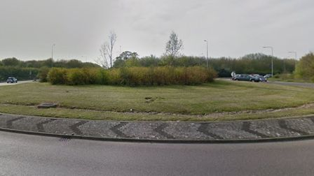 The A133 roundabout nearSt Osyth Road andProgress Way