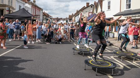 Members of Bounce Dunmow and Flitch Green put on adisplay at Great Dunmow's Summer Market