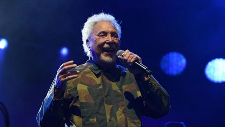 Tom Jones performing at Earlham Park in Norwich. Picture: Danielle Booden