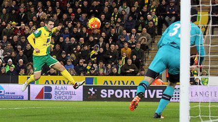 Wes Hoolahan blasts over from close range. Picture: Paul Chesterton/Focus Images Ltd