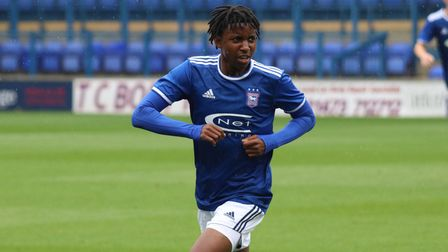 Tawanda Chirewa, pictured in action for Town's Under 23s against Coventry