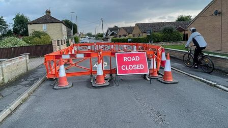 The Butts in Soham was closed due to a sinkhole