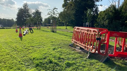 An unexploded bomb has been discovered inAnderson's Meadow, Norwich.