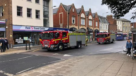Police were called to a fire at a business on Castle Meadow in Norwich.
