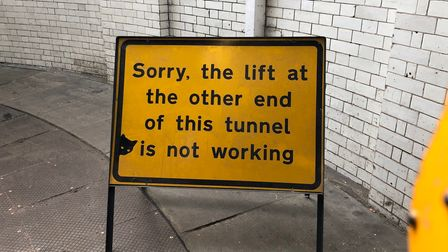 Says it all... abandon hope all whoenter that the lifts might be working