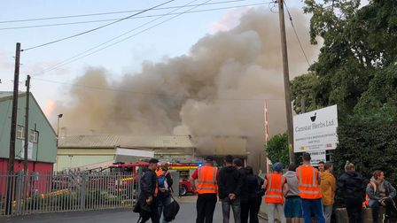 Firefighters remained on scene until the early hours on Tuesday