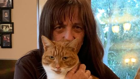 Stephanie Britton from Dereham was reunited with her cat Tom after he had been missing for 15-months.