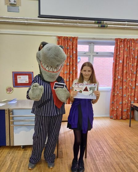 Keira Ridgway (pictured) was one of three winners in the art designcompetition.