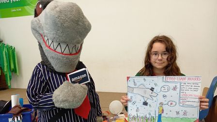 Wicktoria Rozek (pictured) was one of three winners in the art designcompetition.