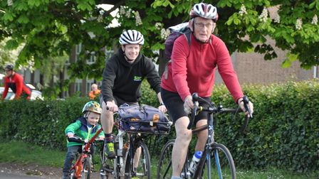 Participants at the last Beccles Cycle for Life charity ride in 2019.