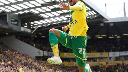 Nathan Redmond celebrates his play-off goal, condemning Ipswich Town to yet another season in the Ch