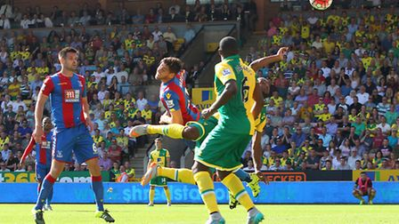 Cameron Jerome's disallowed goal against Crystal Palace. Picture: Paul Chesterton/Focus Images