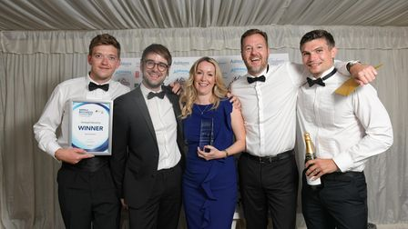 The StrategicQ team after winning the Best Employer award at the Suffolk Business Awards 2019