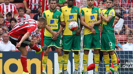 Action from the Premier League fixture between Southampton and Norwich City earlier in the season. P