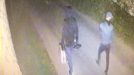 A CCTV image taken shortly after the theft of GPS guidance systems from a farm in Methwold on August 15