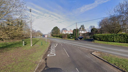 Emergency services have been called to a two vehicle crash near Bury St Edmunds