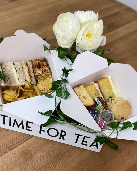 Nana's Tea Room in Chatteris offers afternoon tea to take away.