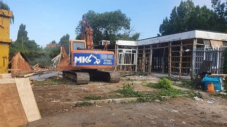 The demolition of an old rail training building at March railway station will provide space for further car parking.