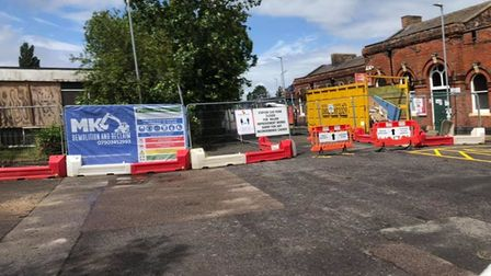 The demolition work is part of a multi-million pound rail station upgrade that will benefit passengers.