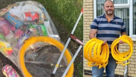 A group of teenagers thanked Ely litter picker Brian Calvert for his rubbish-removing efforts.