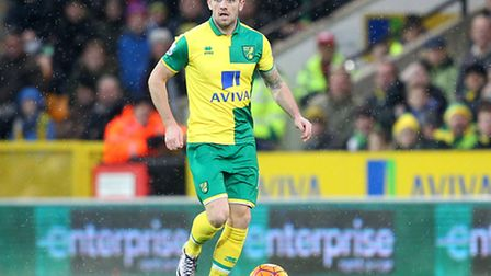 Robbie Brady of Norwich in action during the Barclays Premier League match at Carrow Road, NorwichPi