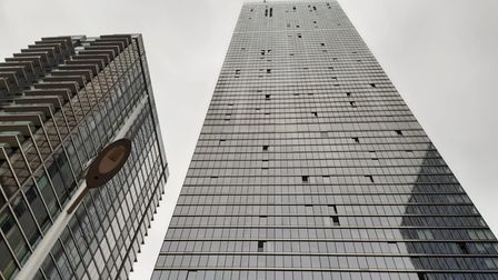 A fire broke out in a flat on the 37th floor of a building in Marsh Wall, Isle of Dogs