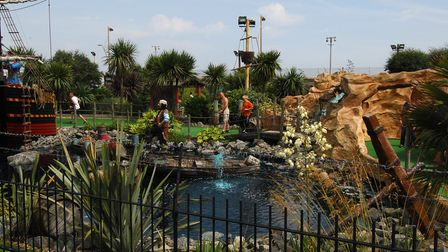 Pirate's Cove crazy golf course, Great Yarmouth Photo:Antony Kelly Copy: For: EDP news EDP pics
