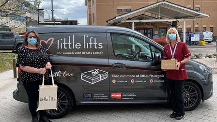 Debbie Farthing and Tracy Cruttenden, from ESNEFT, with the littlelifts packages