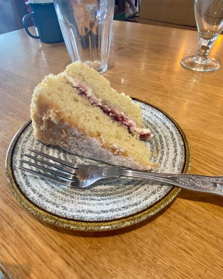 The Victoria Sponge at Wright's Cafe in Bury St Edmunds