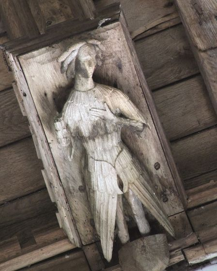 A carving in Wiggenhall St Mary Magdalene
