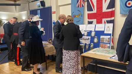Displays were on show, providing information on the tragic event.