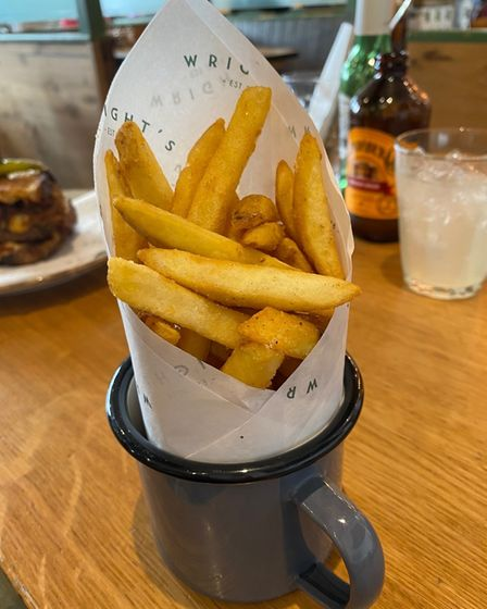 The skin-on fries at Wright's Cafe in Bury St Edmunds