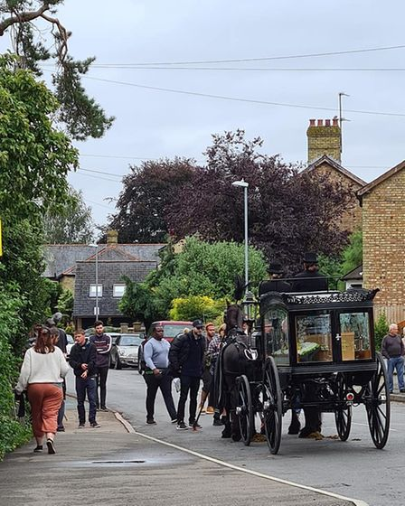 Ely photographer Nicky Still took this photo as film crews shot new movie 'Harvey Greenfield is Running Late'.