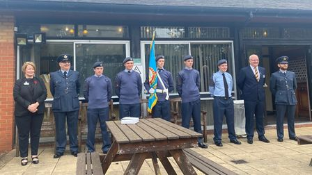 The air cadets who attended the service were awarded a badge by Governor, Ruth Stephens.