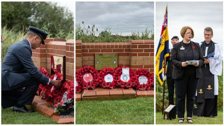 The memorial service at HMP Whitemoor remembered those who lost their lives during a RAF training flight 80 years ago.