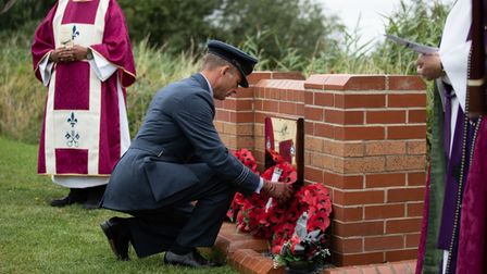 A number of wreaths were placed at the memorial during the memorials service. PICTURE: Katie Woodcock