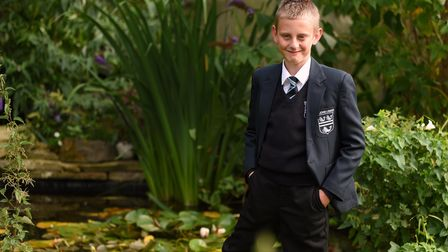 Premature baby, Charlie Fisk, now 11, ready to start at the Sir John Leman High School, pictured at