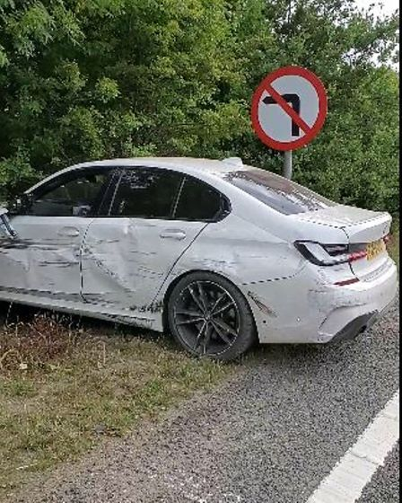 """Ryan Holland, 32, had been driving his car on the A47 near Brundall when he was """"cut up"""" by a van"""