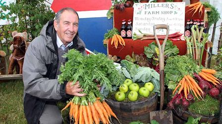 Axminster Festival 2013. Brian Enticott from the Axminster Allotments and Leisure Gardners Associati