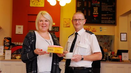 Café Britannia that is looking to expand. Davina Tanner and prison officer Dave Damerell in the Brit