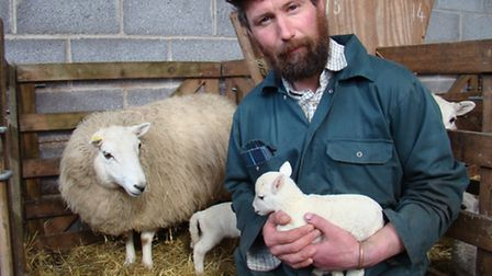 Tim Tyne with a healthy lamb