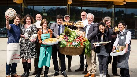 Local food producers display their wares at Gloucester Services on the M5