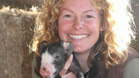 Kate and piglet